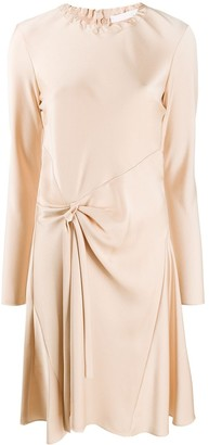 Chloé Gathered Waist Long-Sleeved Dress