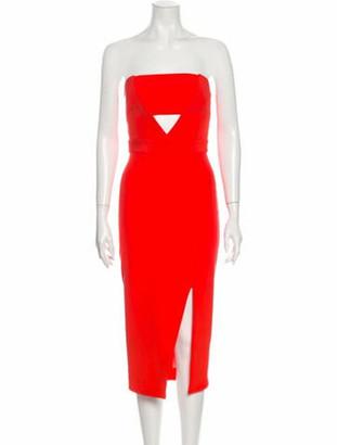 Nicholas Silk Knee-Length Dress Orange