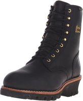 "Chippewa Men's 8"" Waterproof Insulated Steel Toe EH 73050 Logger Boot,BlackOIled"