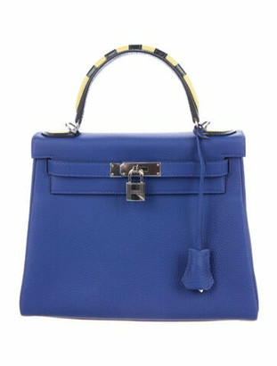 Hermes Togo Kelly Galop Retourne 28 Bleu