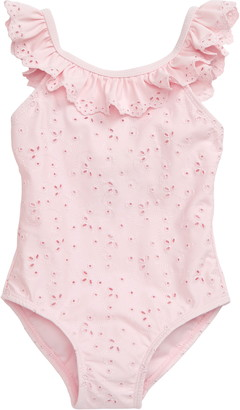 Little Me Eyelet One-Piece Swimsuit