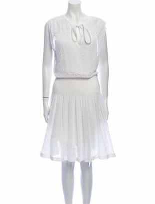 Chanel 2016 Knee-Length Dress White