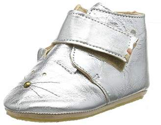 Easy Peasy Baby Girls' Kiny Chat First Walking Shoes, Argent (58 Silver), 0-1 Child UK