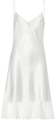 Burberry Tb Monogram Lace Slip Dress