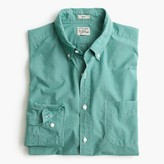 J.Crew Slim Secret Wash shirt in green micro-gingham