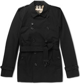 Burberry Kensington Short-Length Cotton Trench Coat