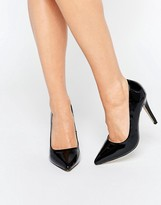 Head Over Heels By Dune Audrine Patent Black Heeled Pumps
