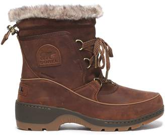 Sorel Faux Shearling-trimmed Rubber And Suede Snow Boots