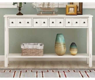 """Rosecliff Heights Shippee 60.03"""" Solid Wood Console Table"""