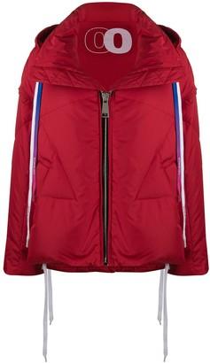 KHRISJOY Contrasting Drawstrings Puffer Jacket