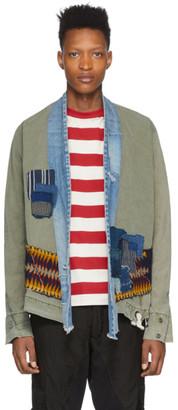 Greg Lauren Green Patchwork Jacket