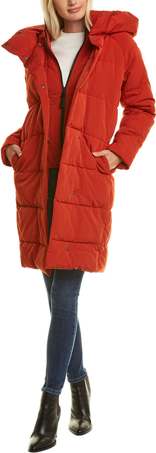 French Connection womens Light Weight Chevron Quilted Anorak Packable