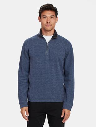 Vince Double Knit Quarter Zip Sweater