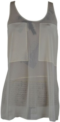 Alexander Wang Grey Silk Top for Women