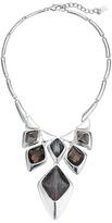 Robert Lee Morris Grey & Silver Stone Bib Necklace