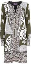 Hale Bob Fire Cracker Embellished Shift Dress