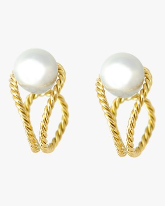 Haute Victoire Baroque Pearl Hoop Earrings