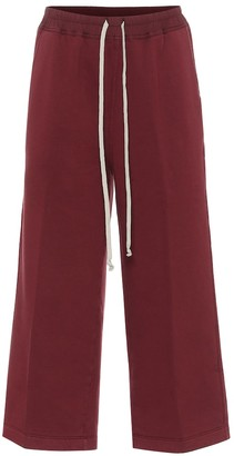 Rick Owens DRKSHDW Felpa cropped cotton trackpants