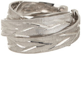 Roberto Coin Sterling Silver Diamond Cut Wrap Ring - Size 6.5