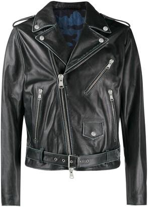 Valentino Contrast Lined Biker Jacket