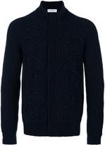Salvatore Ferragamo cable-knit cardigan - men - Wool/Cashmere - M
