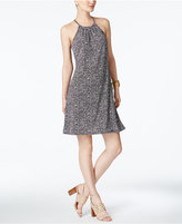 MICHAEL Michael Kors Thora Printed Halter Dress