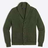 J.Crew Factory Ribbed cotton cardigan sweater