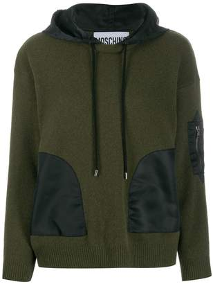 Moschino hooded long-sleeve jumper