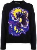 Christopher Kane pansy jacquard sweater - women - Cotton/Nylon/Cashmere/Virgin Wool - S
