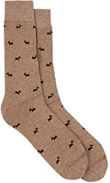 Barneys New York MEN'S SCOTTY DOG MID-CALF SOCKS-GREY