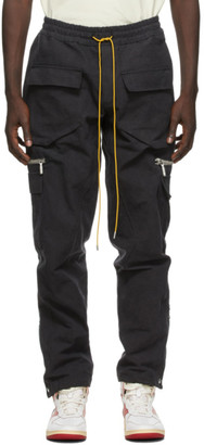 Rhude Grey Canvas Cargo Pants