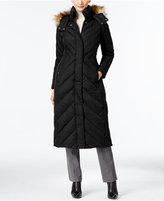 Larry Levine Faux-Fur-Trim Down Maxi Puffer Coat