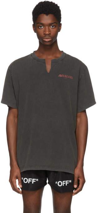Off-White Black Analog Art Dad T-Shirt
