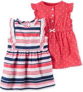 Carter's 2-Pk. Striped & Dot-Print Flutter-Sleeve Dress Set, Baby Girls (0-24 months)