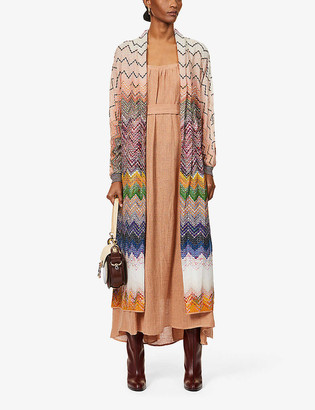 Missoni Zig-zag pattern knitted cardigan
