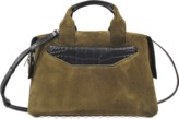 Alexander Wang Rogue Large Satchel in suede and embossed croc