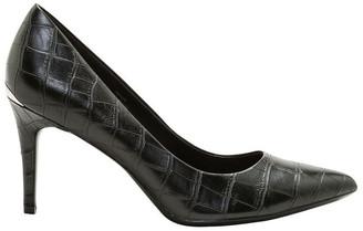 Calvin Klein Gayle Black Croc Heeled Shoes