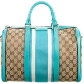 Gucci Vintage Web Boston Bag