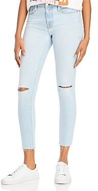 Frame Le Skinny De Jeanne Ripped Jeans in Pacifica Rips