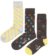 Happy Socks Intarsia Knit Cotton Socks (3 PK)