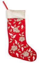 Floral Velvet Stocking