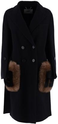 Fendi Fur Pocket Double-Breasted Coat