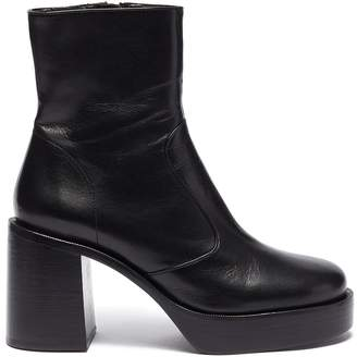 Simon Miller 'High Raid' platform lambskin leather ankle boots
