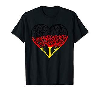 German Flag Family Tree Heart Love T-Shirt