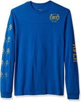 RVCA Young Men's Checkered Long Sleeve Tee Shirt, -, L