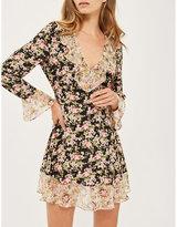 Topshop True romance ruffled crepe dress