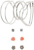 Charlotte Russe Textured Hoop & Stud Earrings Set