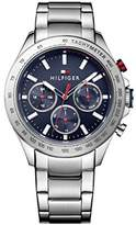 Tommy Hilfiger Mens Quartz Watch, multi dial Display and Stainless Steel Strap 1791228