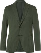 Officine Generale - Green Slim-fit Garment-dyed Cotton-twill Suit Jacket