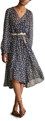 Polo Ralph Lauren Denver Floral Print Long Sleeve Dress
